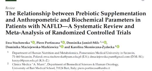 prebiotyki w NAFLD